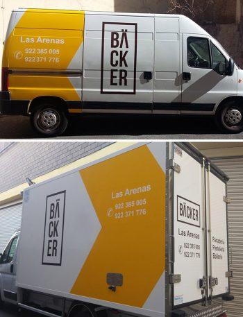Rotulación de vehículos: furgoneta Backer