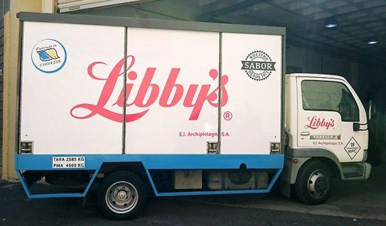 Rotulación camión Libby's