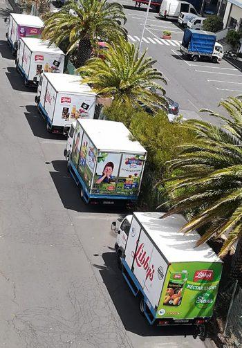 Rotulación camiones Libby's